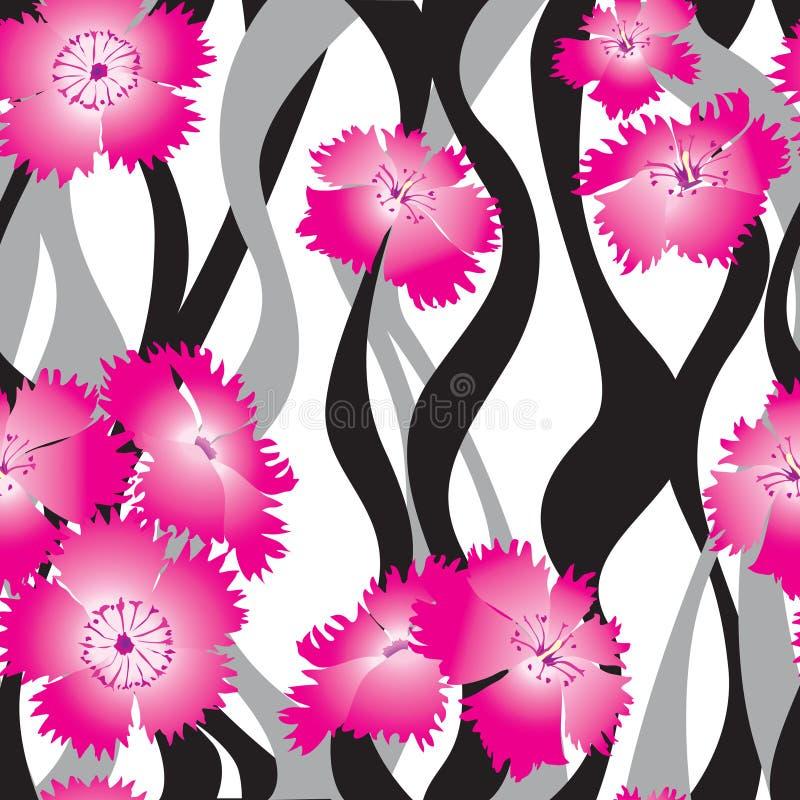 Fundo sem emenda floral. teste padrão delicado das rosas da flor. ilustração royalty free