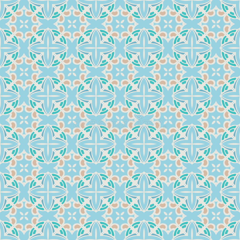 Fundo sem emenda geométrico abstrato do teste padrão ilustração do vetor