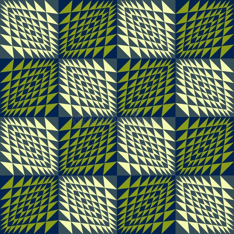 Fundo sem emenda geométrico abstrato ondulado ilustração do vetor
