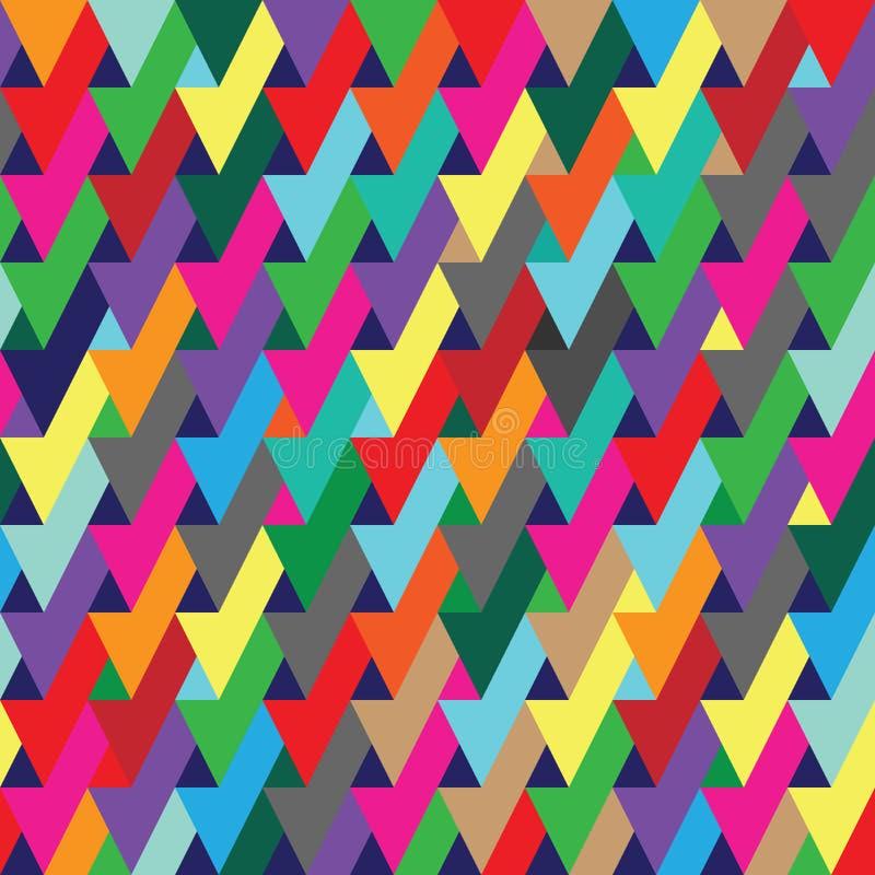 Fundo sem emenda geométrico vibrante do teste padrão da repetição da ilusão ótica ilustração do vetor