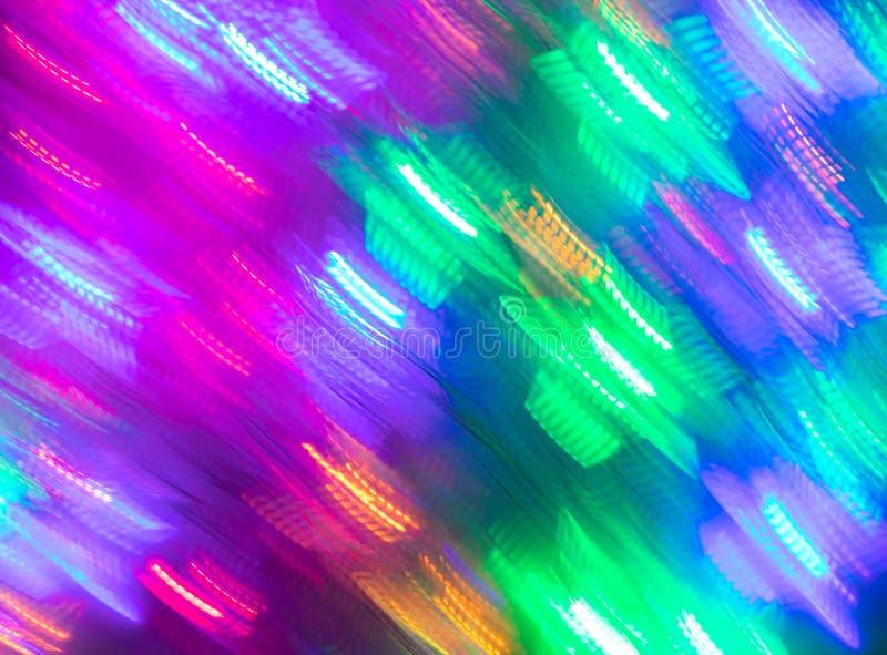 Fundo sem emenda luminoso do sumário de luzes de néon borradas imagens de stock