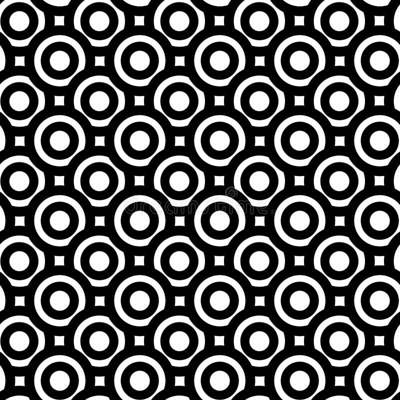 Fundo sem emenda monocromático dos círculos grossos ilustração stock