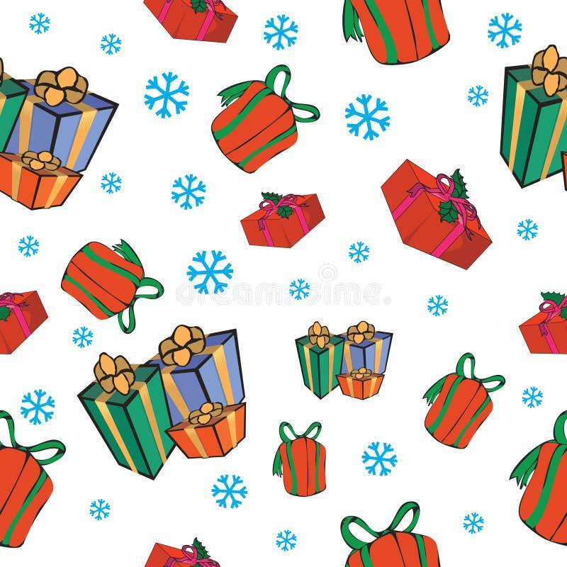 Fundo sem emenda. Natal ilustração stock