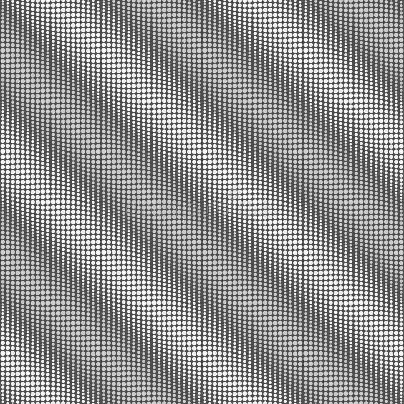 Fundo sem emenda pontilhado preto e branco Projeto gráfico da forma geométrica Ilustração do vetor Textura abstrata à moda modern ilustração stock