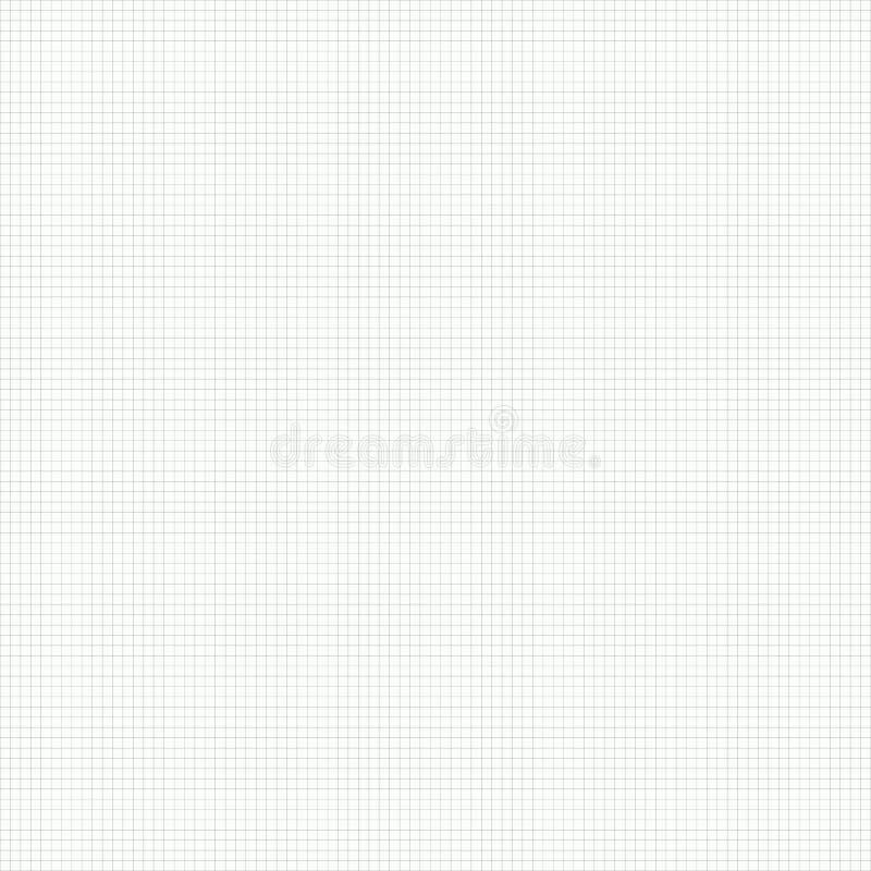 Fundo sem emenda simples do papel de gráfico do vetor ilustração stock