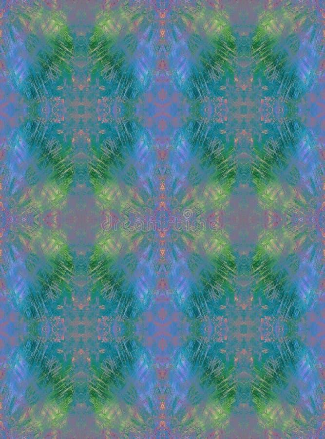 Fundo sem emenda Teste padrão geométrico do grunge abstrato Arco-íris nublado ilustração do vetor