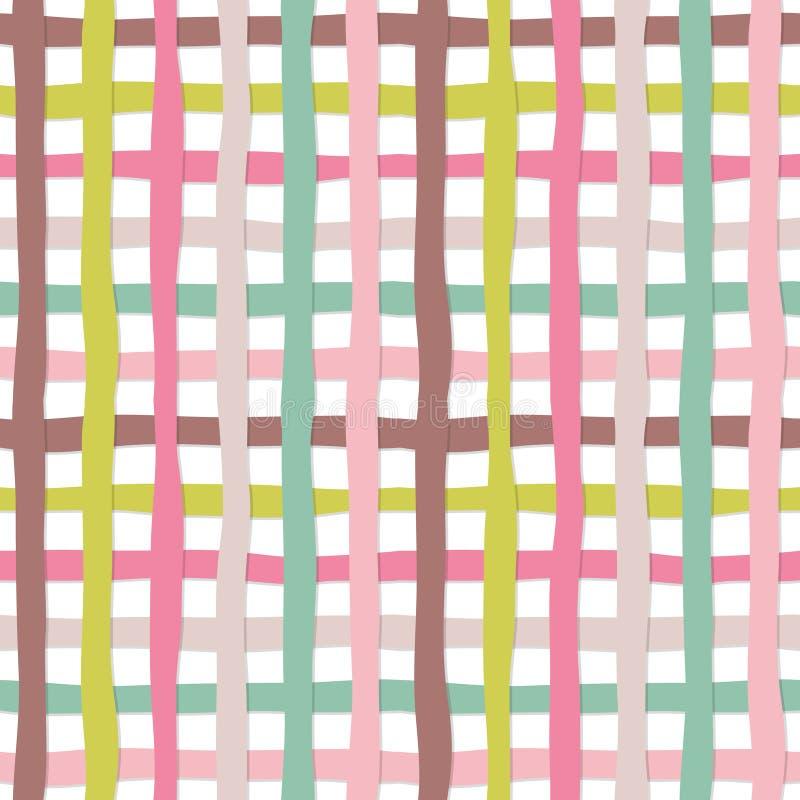 Fundo sem emenda tirado mão do teste padrão da manta O plasticine colorido listra a textura Para a cópia e a Web ilustração royalty free