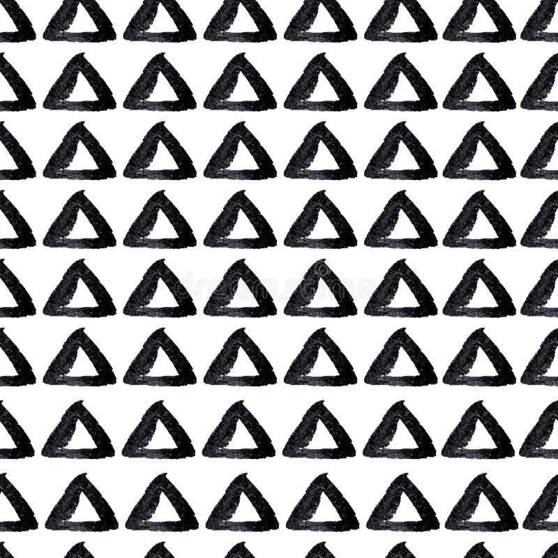 Fundo sem emenda tirado mão dos triângulos ilustração stock