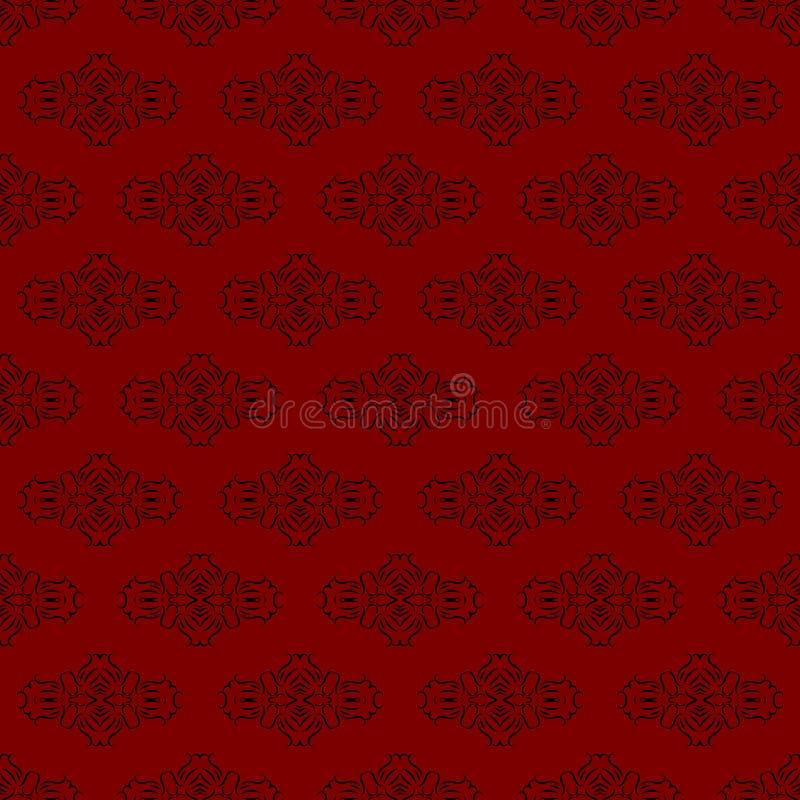 Fundo sem emenda vermelho do teste padrão ilustração stock