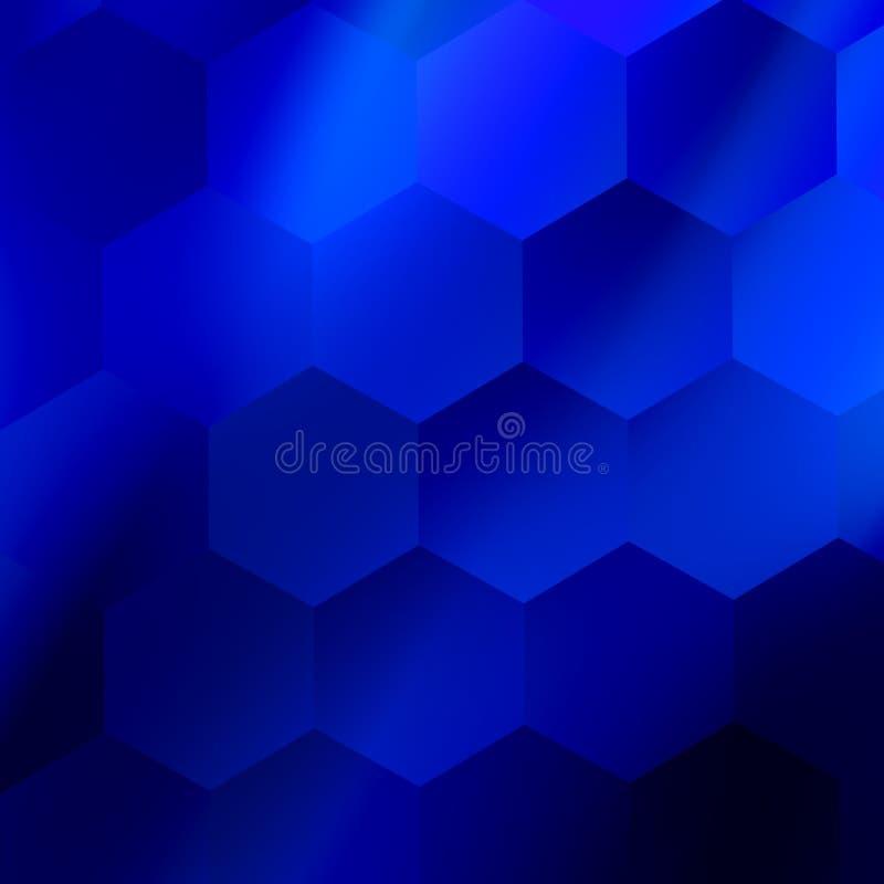 Fundo sextavado abstrato macio Projeto geométrico azul Ilustração moderna Contexto mínimo vazio moderno para o Web site da Web ilustração royalty free