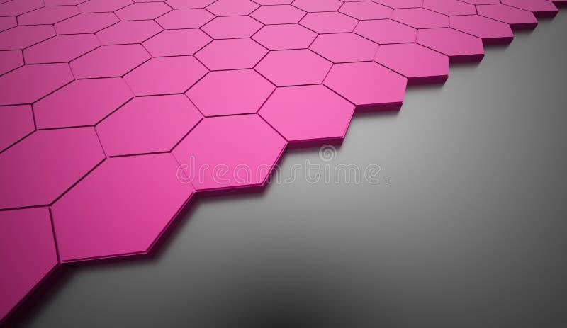 Fundo sextavado cor-de-rosa ilustração do vetor