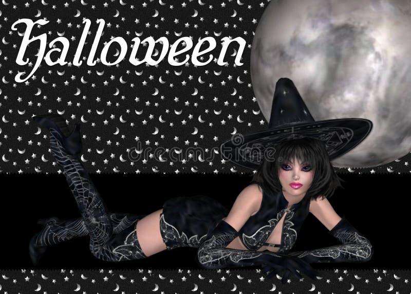 Fundo 'sexy' de Halloween da bruxa ilustração do vetor