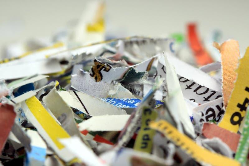 Fundo Shredded dos originais - reciclando o conceito foto de stock royalty free
