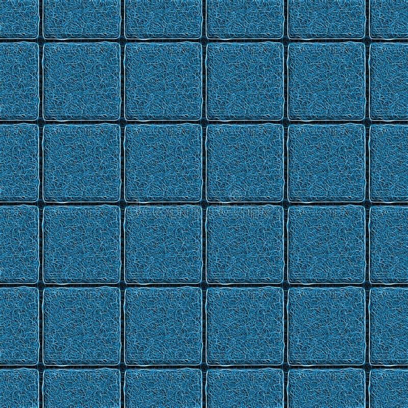 Fundo simétrico abstrato Telha quadrada que consiste em filamentos finos torcidos ilustração stock