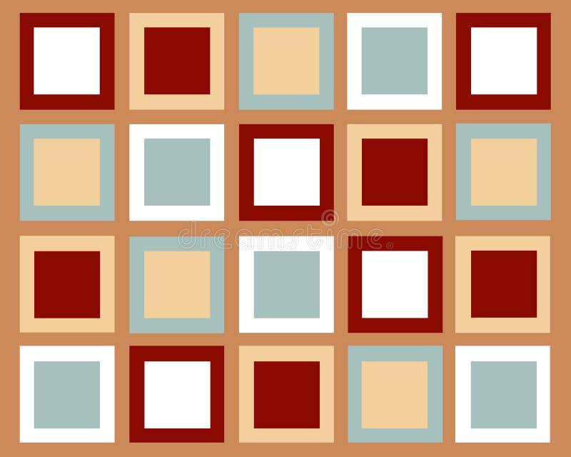 Fundo simétrico retro dos quadrados ilustração royalty free