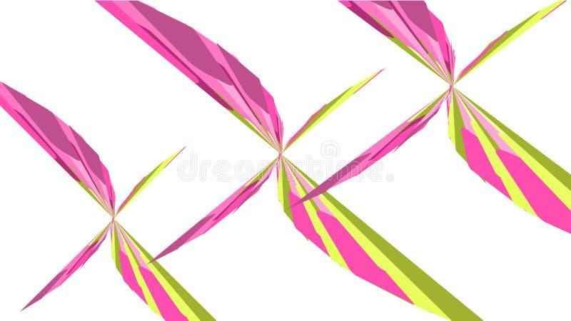 Fundo simples, textura de formas geométricas brilhantes bonitas abstratas cor-de-rosa e amarelas minimalistic sob a forma das bor ilustração do vetor