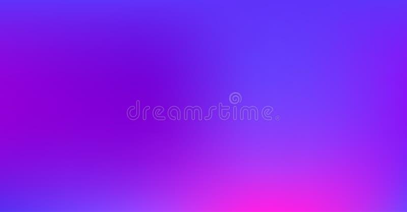 Fundo sonhador vibrante do vetor do inclinação azul roxo Nascer do sol, por do sol, céu, papel fresco funky de néon do inclinação ilustração royalty free