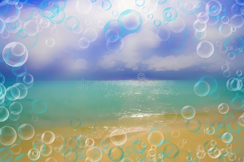 Fundo-sonho abstrato sobre o mar, descanso imagem de stock royalty free