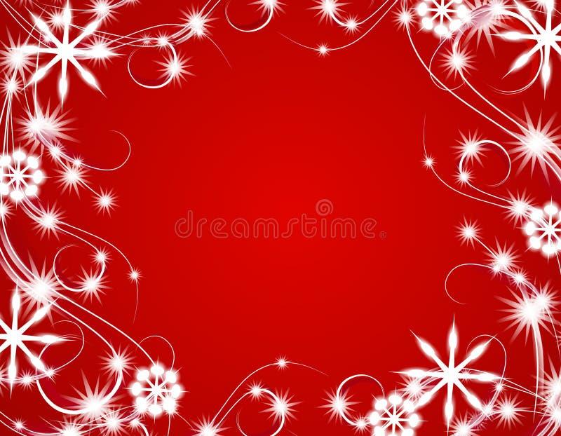 Fundo Sparkling das luzes do Natal vermelho ilustração royalty free