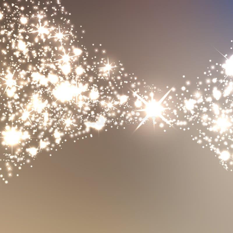 Fundo sparkling do Natal elegante ilustração stock