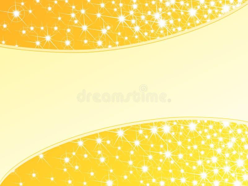 Fundo sparkly amarelo brilhante, horizontal ilustração royalty free