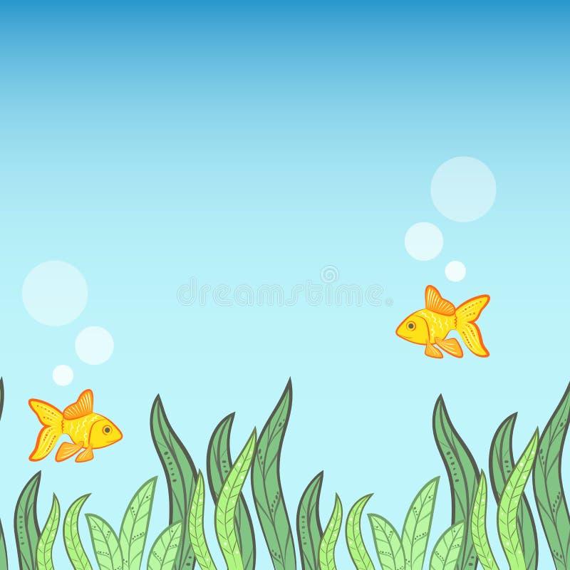 Fundo subaquático do jogo ilustração do vetor