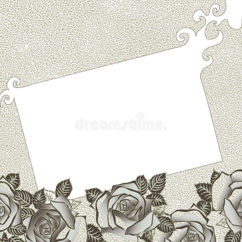 Fundo sujo com rosas ilustração do vetor
