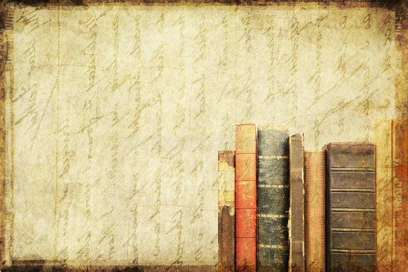 Fundo sujo do livro ilustração stock