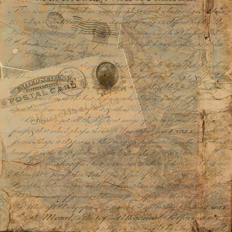 Fundo sujo do texto do cartão do vintage imagem de stock