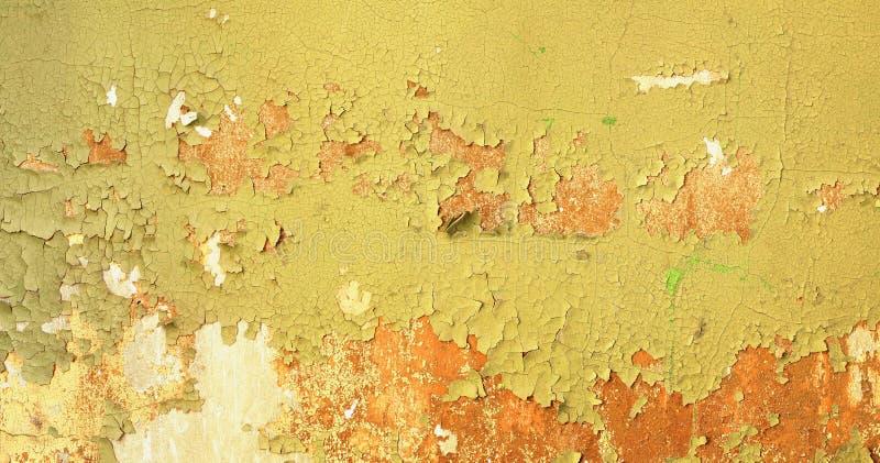 Fundo sujo - parede da construção abandonada com verde danificado fotos de stock