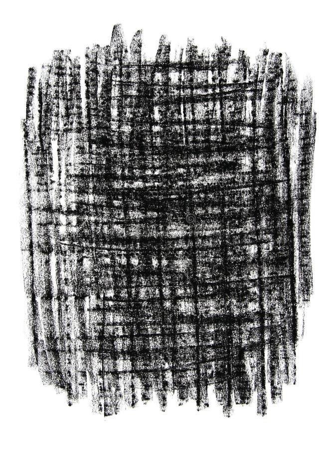 Fundo sujo textured preto ilustração royalty free