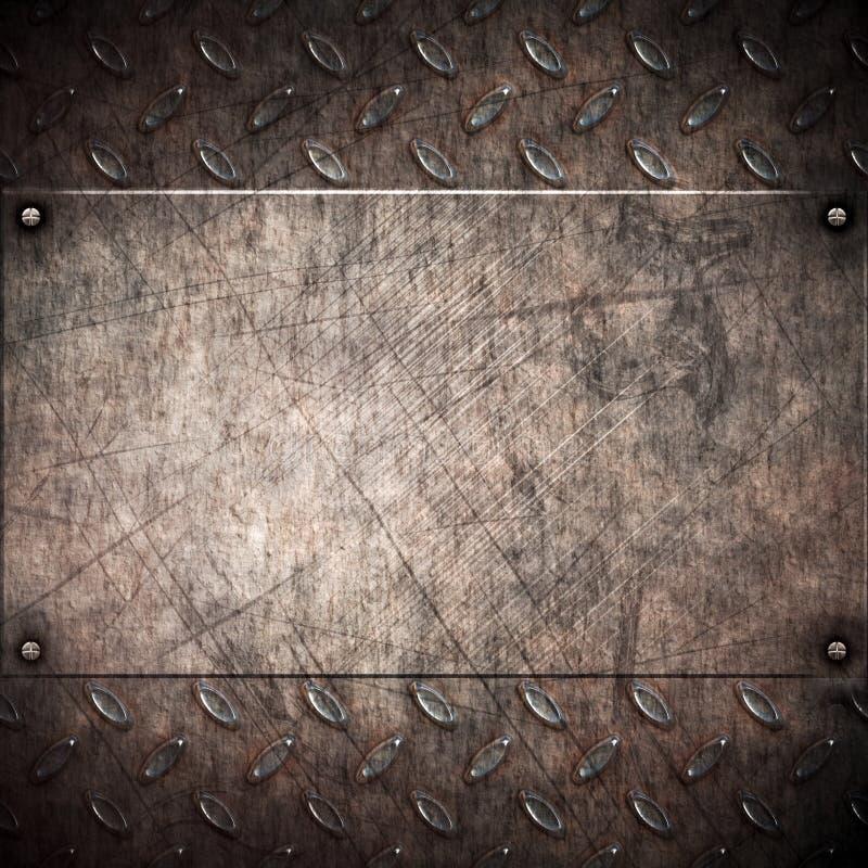 Fundo sujo velho do metal ilustração do vetor