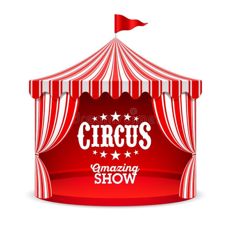 Fundo surpreendente do cartaz da mostra do circo ilustração stock