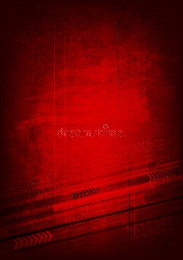 Fundo técnico de Grunge - eps 10 ilustração stock