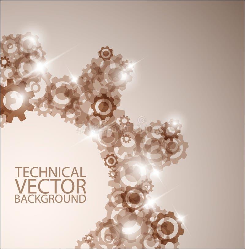 Fundo técnico do vetor feito das rodas denteadas ilustração do vetor