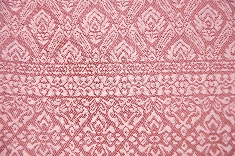 Fundo tailandês da tela de seda fotografia de stock