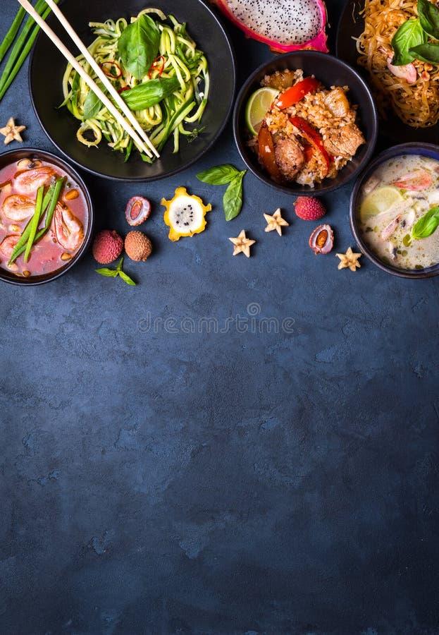 Fundo tailandês do alimento foto de stock royalty free