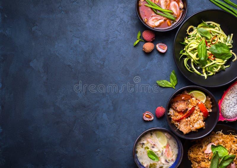 Fundo tailandês do alimento foto de stock