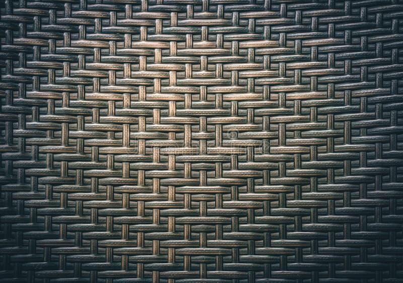 Fundo tailandês tradicional da natureza do teste padrão do estilo da superfície marrom do vime da textura do weave do artesanato  imagens de stock royalty free