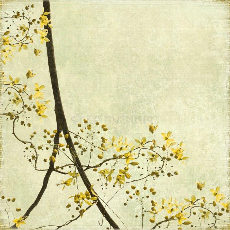Fundo Tangled da beira da flor fotografia de stock royalty free