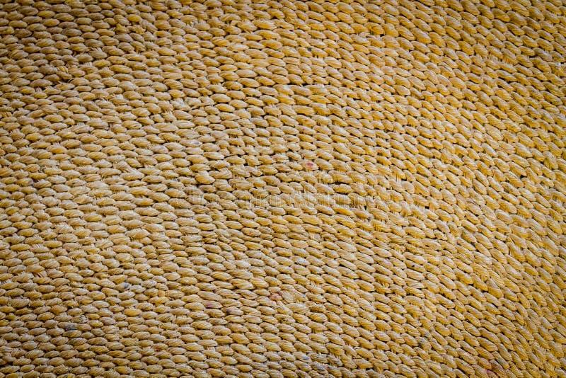 Fundo tecido da esteira da palha, textura imagens de stock royalty free