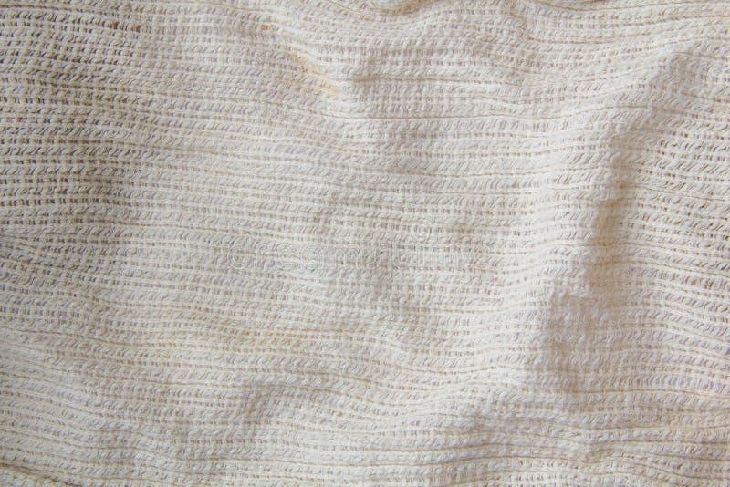 Fundo tecido pano de saco do teste padrão da textura no tom marrom de creme bege bronzeado da cor do sepia claro: Orgânico cru am foto de stock