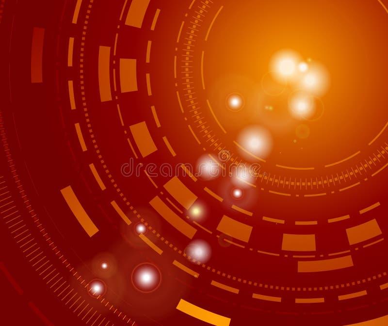 Fundo tecnológico com sparkles ilustração do vetor