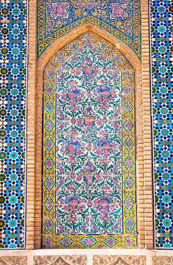 Fundo telhado, mesquita de Vakili, Shiraz, Irã fotografia de stock