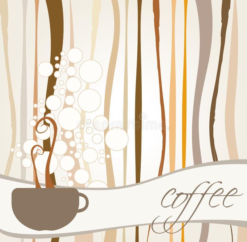 Fundo temático do café ilustração stock