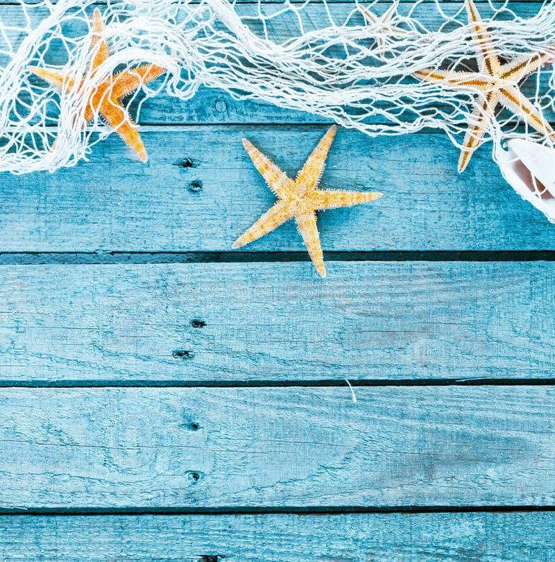 Fundo temático do quadrado do azul de turquesa do mar fotografia de stock
