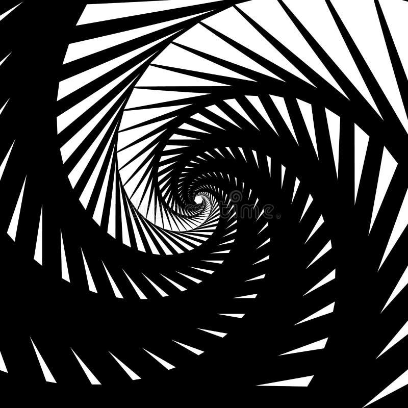 Fundo-teste padrão abstrato com espiralmente, efeito do redemoinho ilustração do vetor