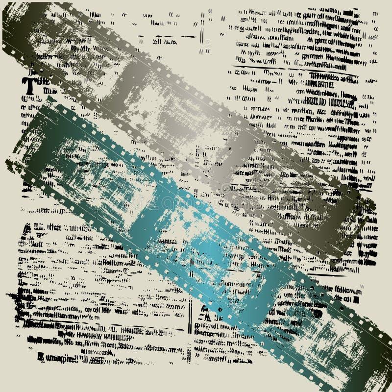 Fundo Textual de Grunge da película ilustração royalty free