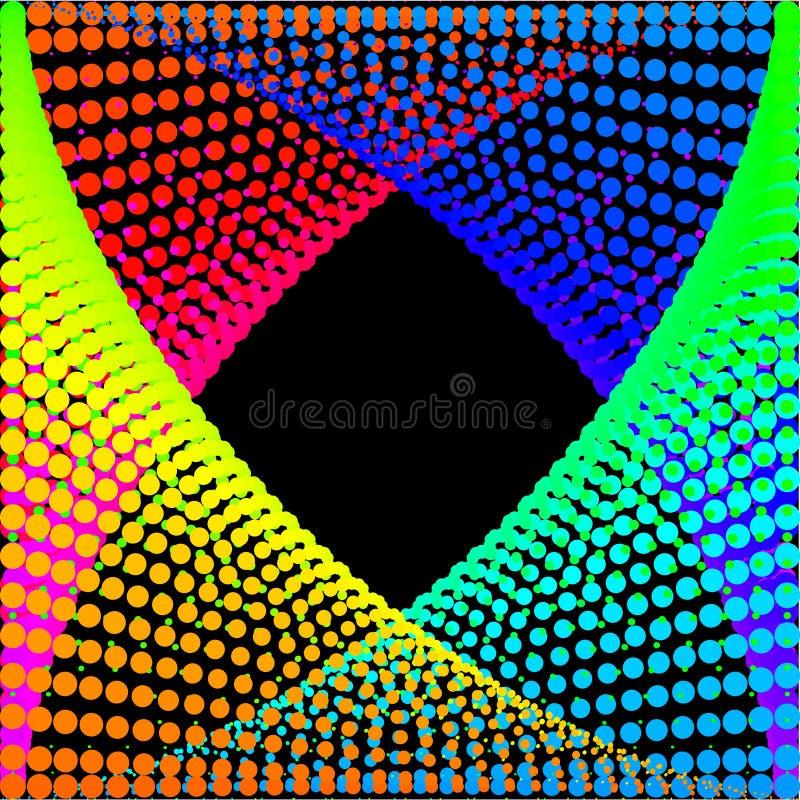 Fundo, textura, abstrata Os círculos coloridos, bolas em um fundo preto são isolados ilustração royalty free