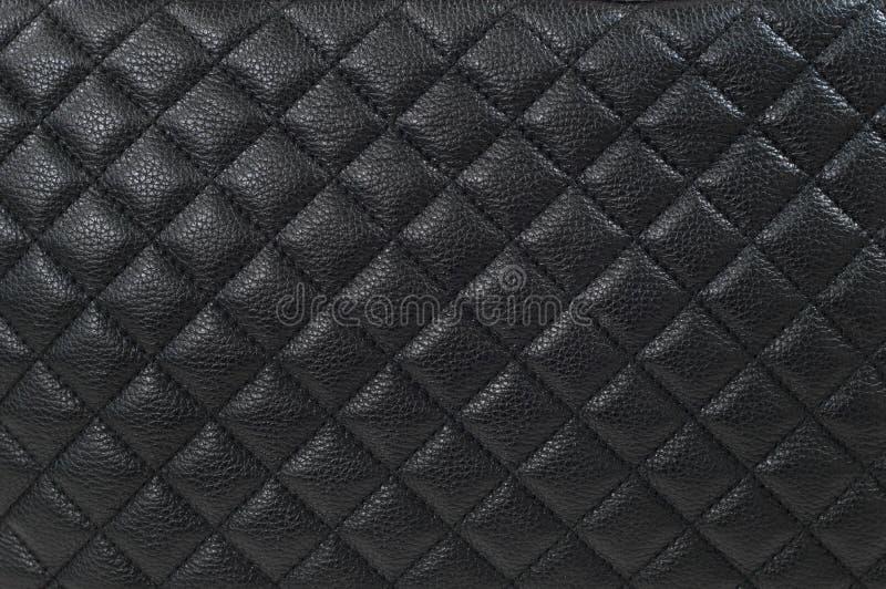 Fundo/textura de couro pretos fotos de stock royalty free